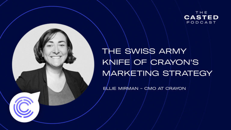 Content: The Swiss Army Knife of Crayon's Marketing Strategy with Ellie Mirman